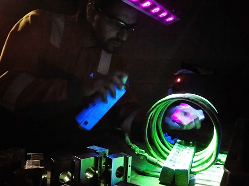 Fluorescent Magnetic Particle Inspection or test (FMPI)
